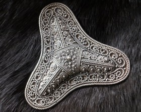 intricate viking brooch